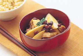 鶏と筍の小倉煮