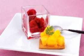 ソテーマンゴと フレッシュチーズ