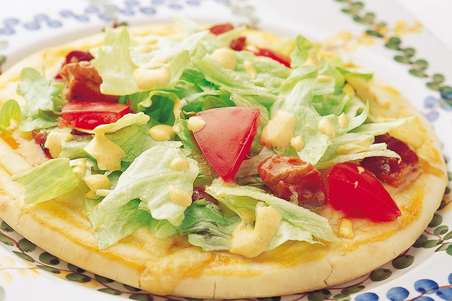 ヘルシー照り焼きチキンピザ