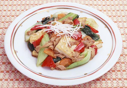 ツナと豆腐の炒めもの