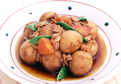 ツナと里芋の甘辛煮
