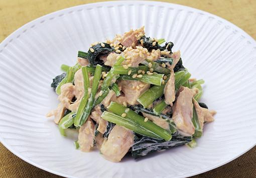 ツナと青菜のごまマヨネーズ和え