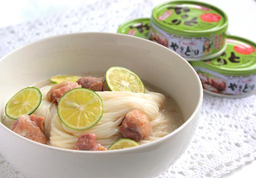 やきとりの豆乳柚子こしょう冷麺